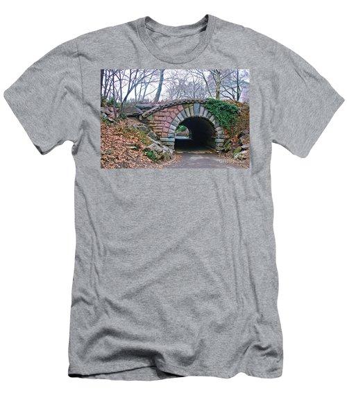 Central Park, Nyc Bridge Landscape Men's T-Shirt (Athletic Fit)