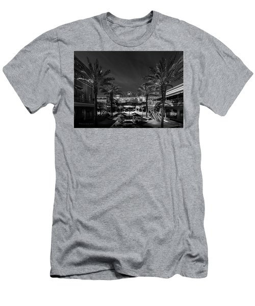 Men's T-Shirt (Slim Fit) featuring the photograph Centro Ybor Bw by Marvin Spates