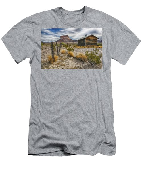 Men's T-Shirt (Slim Fit) featuring the tapestry - textile Cerro Castellan - Big Bend - Color by Kathy Adams Clark