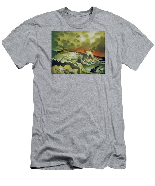 Cetacean Sunset Men's T-Shirt (Athletic Fit)