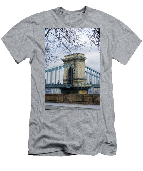 Chain Bridge Pier Men's T-Shirt (Athletic Fit)