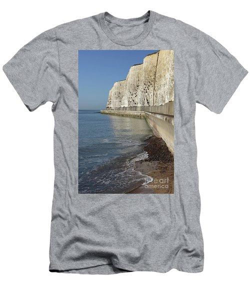 Chalk Cliffs At Peacehaven East Sussex England Uk Men's T-Shirt (Athletic Fit)