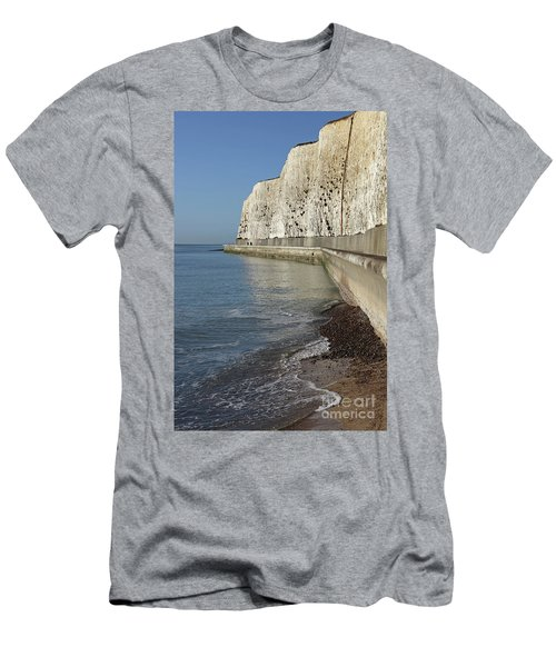 Chalk Cliffs At Peacehaven East Sussex England Uk Men's T-Shirt (Athletic Fit)