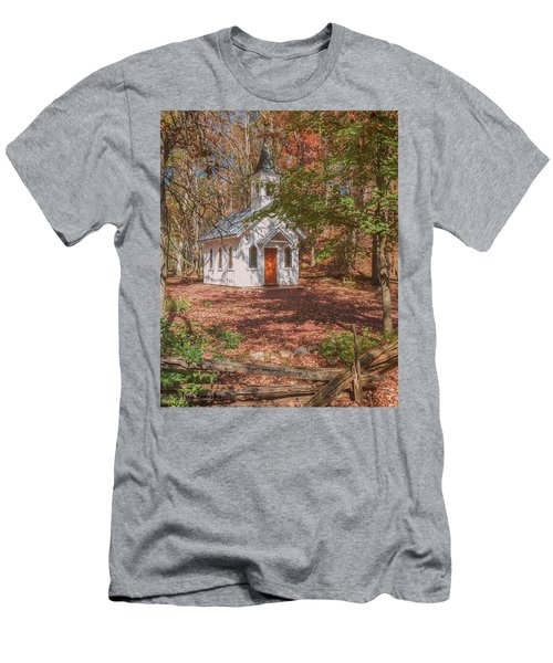 Chapel In Woods At Red Mill 3 Men's T-Shirt (Athletic Fit)