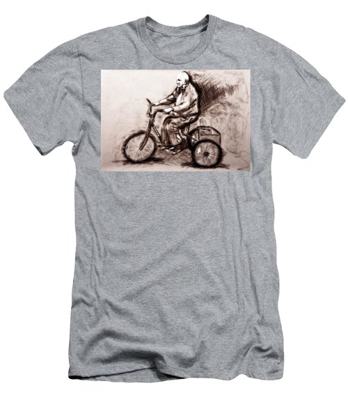 Charcoal Drawing Of Pedal To The Metal By Ayasha Loya Men's T-Shirt (Slim Fit) by Ayasha Loya