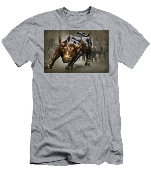 Charging Bull Men's T-Shirt (Athletic Fit)