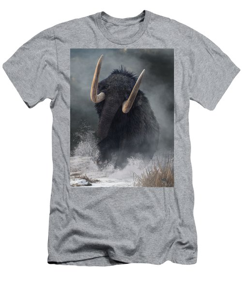 Men's T-Shirt (Athletic Fit) featuring the photograph Charging Mammoth by Daniel Eskridge