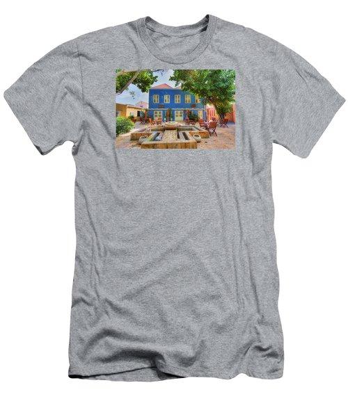 Charming Courtyard Men's T-Shirt (Slim Fit) by Nadia Sanowar