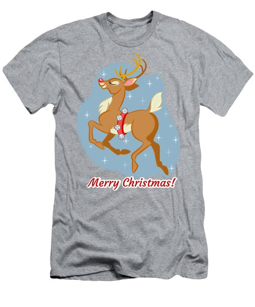 Charming Retro Reindeer Men's T-Shirt (Athletic Fit)