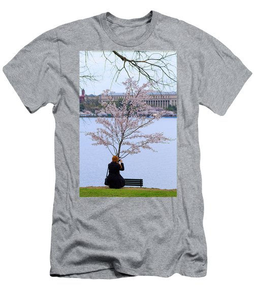 Chasing Blossoms Men's T-Shirt (Athletic Fit)