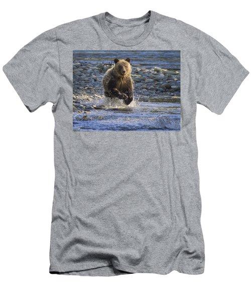 Chasing Salmon Men's T-Shirt (Slim Fit) by Inge Riis McDonald