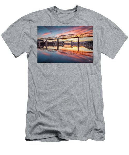 Chattanooga Sunset 5 Men's T-Shirt (Slim Fit) by Steven Llorca