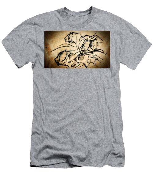 Chauvet Cave Lions Men's T-Shirt (Athletic Fit)