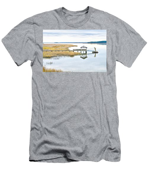 Chechessee Creek Dock Men's T-Shirt (Athletic Fit)
