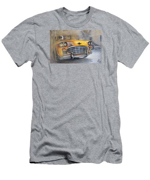Checker Taxi Men's T-Shirt (Slim Fit) by Vali Irina Ciobanu