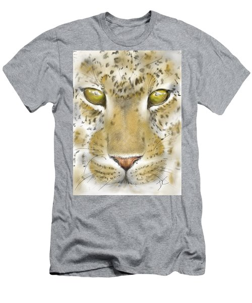Men's T-Shirt (Athletic Fit) featuring the digital art Cheetah Face by Darren Cannell