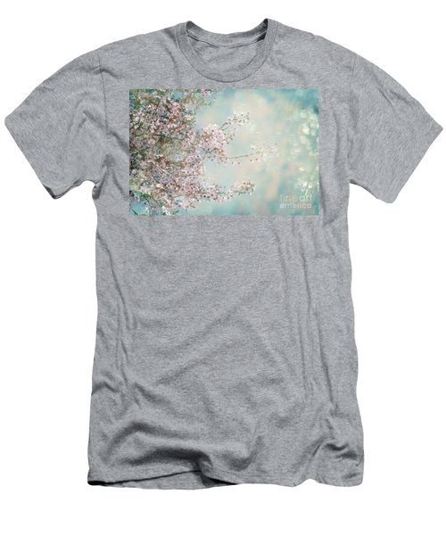 Men's T-Shirt (Athletic Fit) featuring the photograph Cherry Blossom Dreams by Linda Lees