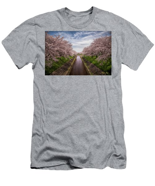 Men's T-Shirt (Athletic Fit) featuring the photograph Cherry Blossoms In Nara by Rikk Flohr