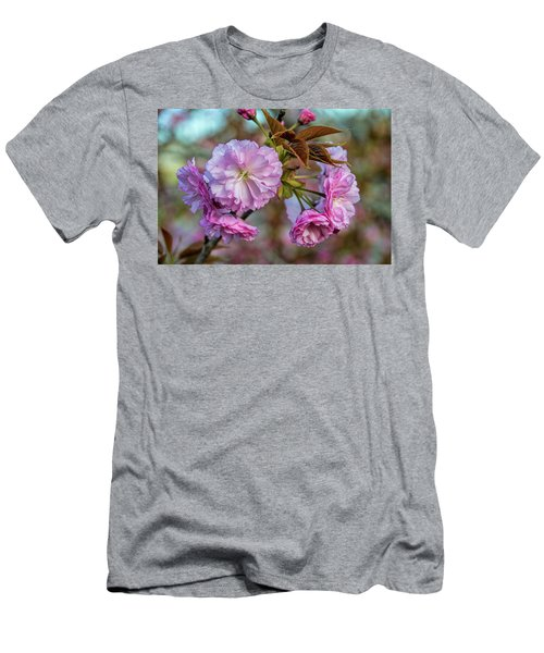 Cherry Blossoms Men's T-Shirt (Slim Fit) by Pat Cook