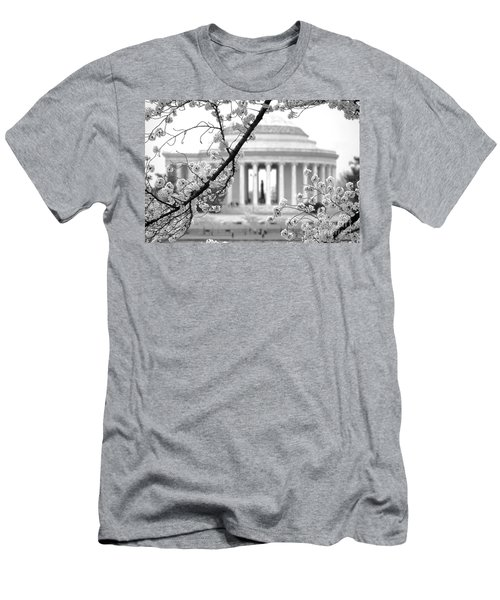 Cherry Tree And Jefferson Memorial Elegance  Men's T-Shirt (Athletic Fit)