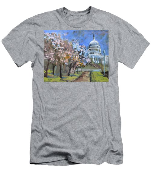 Cherry Tree Blossoms In Washington Dc Men's T-Shirt (Athletic Fit)