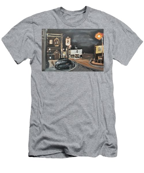 Chertsey At Night 1 Men's T-Shirt (Athletic Fit)