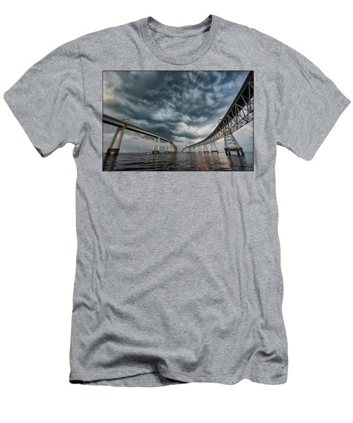 Chesapeake Bay Bridge Storm Men's T-Shirt (Athletic Fit)