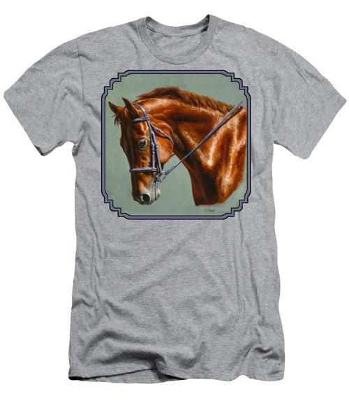 Chestnut Dressage Horse Phone Case Men's T-Shirt (Athletic Fit)