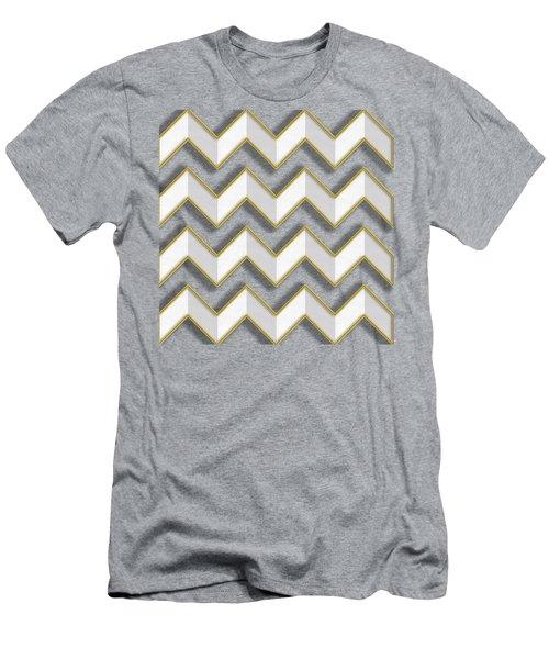 Chevrons - Gold Edges Men's T-Shirt (Slim Fit) by Chuck Staley