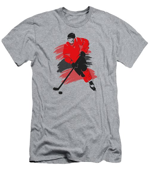 Chicago Blackhawks Player Shirt Men's T-Shirt (Slim Fit) by Joe Hamilton