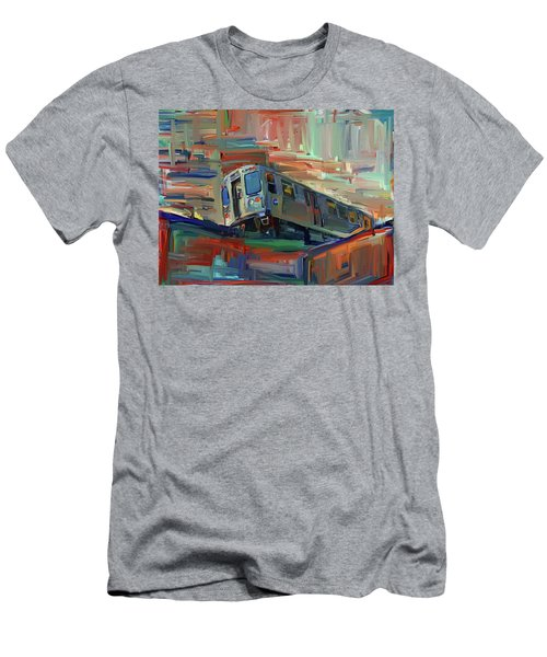 Chicago City Train Men's T-Shirt (Athletic Fit)