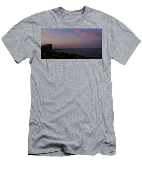 Chicago Lakefront At Sunset Men's T-Shirt (Athletic Fit)
