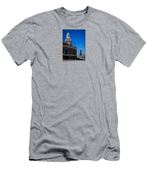 Men's T-Shirt (Slim Fit) featuring the photograph Chicago's Navy Pier by Kathleen Scanlan