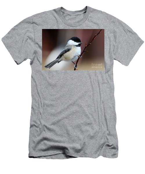 Chickadee Dee Dee Men's T-Shirt (Slim Fit) by Sandra Updyke