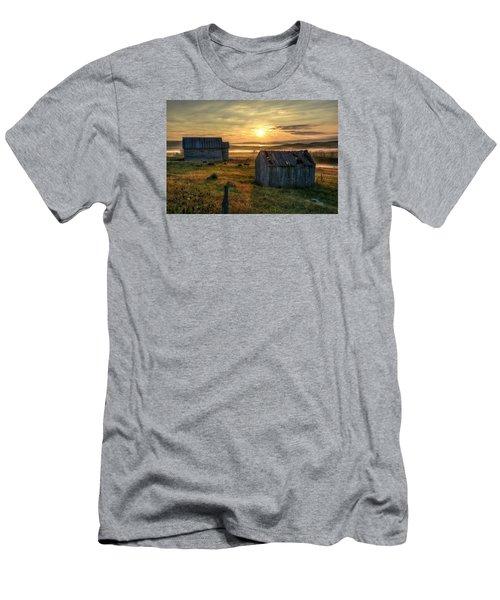 Chicken Creek Schoolhouse Men's T-Shirt (Slim Fit) by Fiskr Larsen
