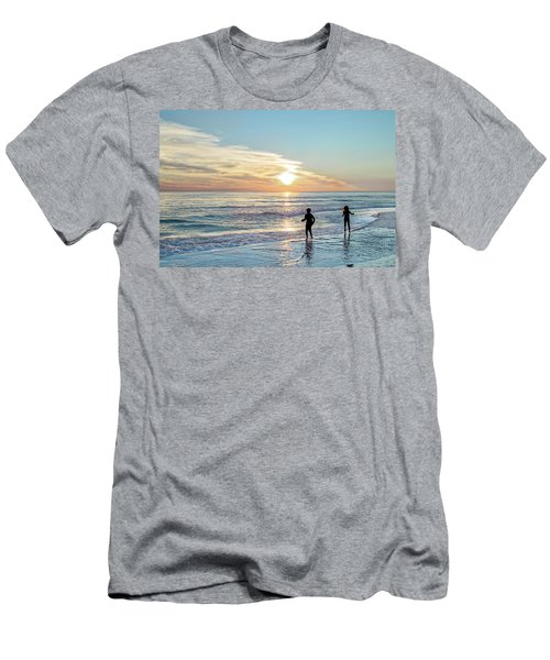 Children At Play On A Florida Beach  Men's T-Shirt (Athletic Fit)