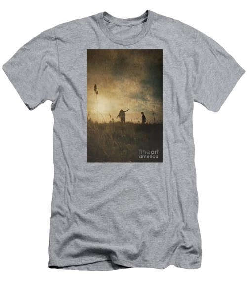 Children Playing Men's T-Shirt (Athletic Fit)