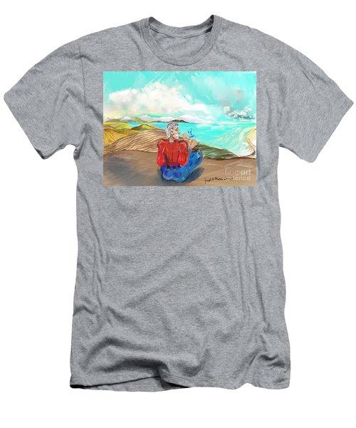 Chillin' Caricature Joe Men's T-Shirt (Athletic Fit)