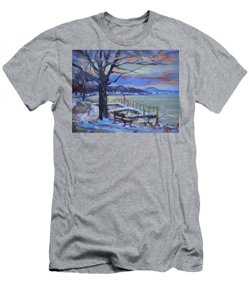 Chilly Sunset In Niagara River Men's T-Shirt (Athletic Fit)