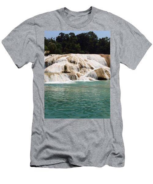 Chilon Waterfall. Men's T-Shirt (Slim Fit) by Shlomo Zangilevitch
