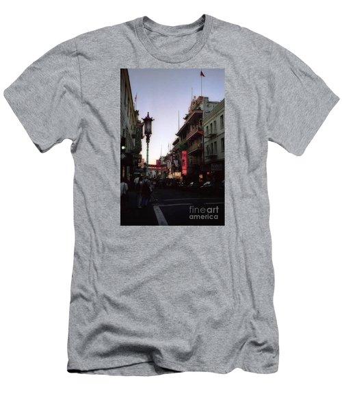 China Town San Francisco  Men's T-Shirt (Slim Fit) by Ted Pollard
