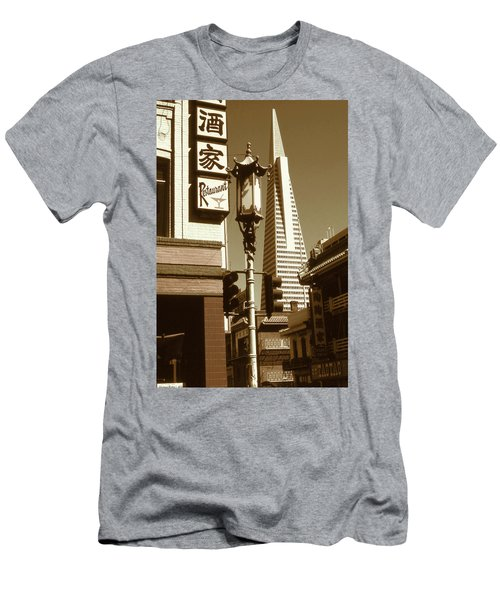Chinatown San Francisco - Vintage Photo Art Men's T-Shirt (Athletic Fit)