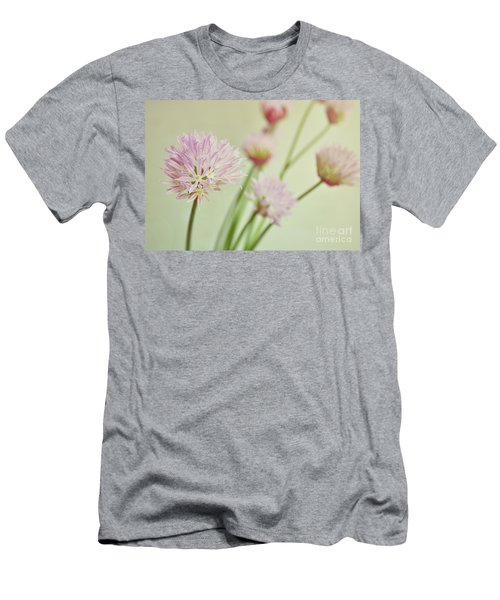 Men's T-Shirt (Slim Fit) featuring the photograph Chives In Flower by Lyn Randle