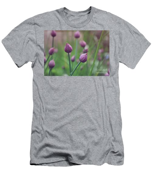 Men's T-Shirt (Slim Fit) featuring the photograph Chives by Lyn Randle