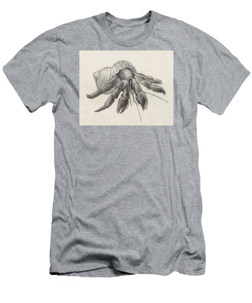 Men's T-Shirt (Athletic Fit) featuring the drawing Chocolate Hermit Crab by Judith Kunzle