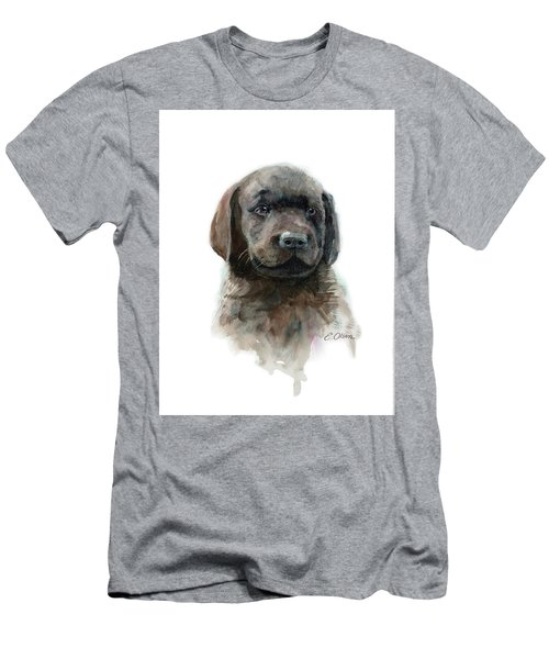 Chocolate Lab Puppy Men's T-Shirt (Athletic Fit)