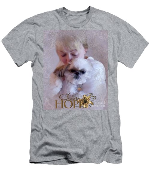 Men's T-Shirt (Athletic Fit) featuring the digital art Choose Hope by Kathy Tarochione
