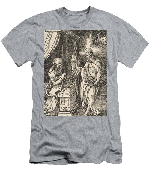 Christ Appearing To His Mother, From The Small Passion Men's T-Shirt (Athletic Fit)