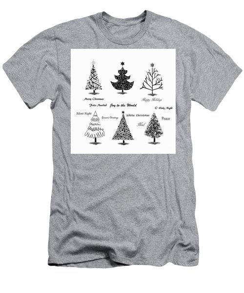 Men's T-Shirt (Slim Fit) featuring the photograph Christmas Illustration by Stephanie Frey
