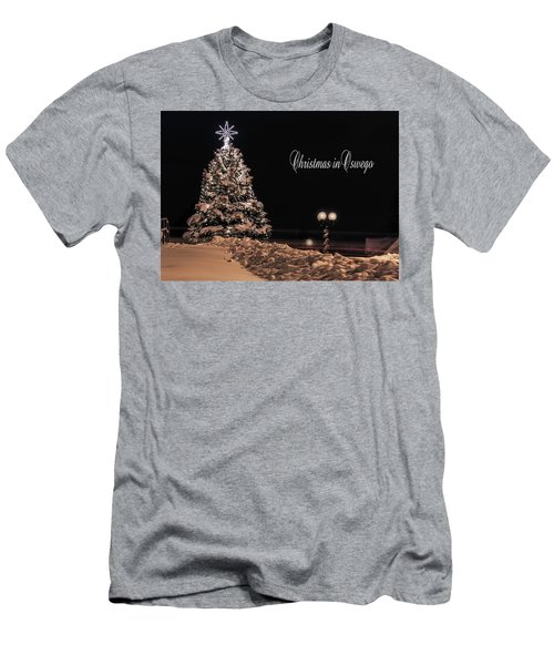 Men's T-Shirt (Slim Fit) featuring the photograph Christmas In Oswego by Everet Regal